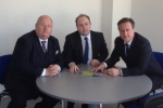 Cllr David Mackintosh with Prime Minister David Cameron and Eric Pickles